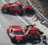 Sports cars accident