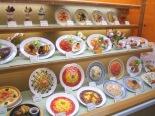 Fake food show window