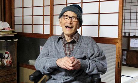 Jiroemon Kimura, aged 115, March 2013