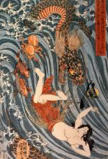 Tamatori legend, Kuniyoshi Utagawa